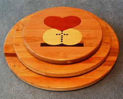 Wooden Lazy Susans:  Worldwide Marriage Encounter